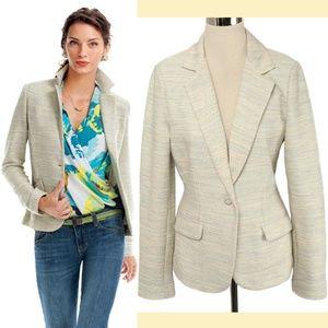 CAbi #713 Lemon Zest Gray & Yellow Tweed Blazer